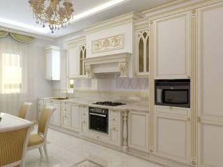 Дизайн классической кухни: Кухни в . Автор – Цунёв_Дизайн. Студия интерьерных решений.