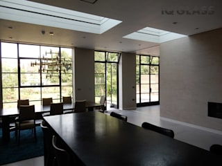 Castelnau Modern dining room by IQ Glass UK Modern