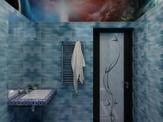 Дизайн душевой комнаты: Ванные комнаты в . Автор – Цунёв_Дизайн. Студия интерьерных решений.