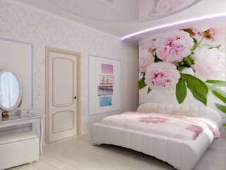 モダンスタイルの寝室 の Цунёв_Дизайн. Студия интерьерных решений. モダン