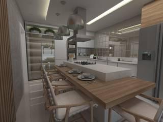 Projeto Cozinha:   por At Home Decor Ltda Epp,Moderno