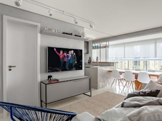 Loft moderno: Salas de estar  por Ana Mendes Arquitetura