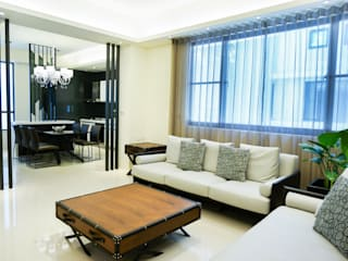 Ruang Keluarga oleh 沐築空間設計, Modern