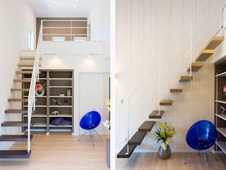 片持ち階段: LobeSquareが手掛けた階段です。,