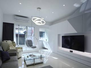 現代意象活力風 现代客厅設計點子、靈感 & 圖片 根據 瓦悅設計有限公司 現代風