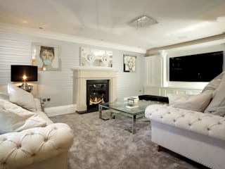 Cinema/Sitting Room:  Living room by absolute interior design ltd