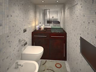 40 piedi: Bagno in stile  di officinaleonardo, Moderno