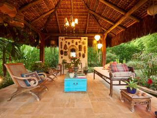 Gazebo Oriental: Jardins zen  por Maria Luiza Aceituno arquitetos,Asiático
