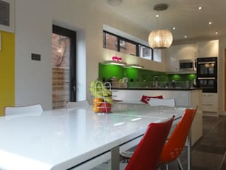 Re-modelling of Victorian House, Newbury:  Kitchen units by Inspiration Chartered Architects Ltd