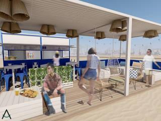Estudi Aura, decoradores y diseñadores de interiores en Barcelona Mediterrane bars & clubs Hout Wit