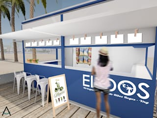 Estudi Aura, decoradores y diseñadores de interiores en Barcelona Bars & clubs Wood White