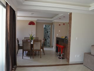 A SALA DE JANTAR: Salas de jantar campestres por Solange Figueiredo - ALLS Arquitetura e engenharia