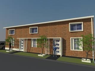 Fachada terminada: Casas multifamiliares de estilo  por Arq. Melisa Cavallo