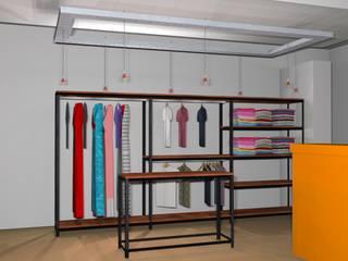 Proyecto, vista interior : Vestidores y placares de estilo rústico por Arq. Melisa Cavallo
