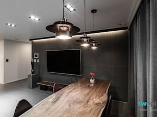 익산인테리어 익산 포스코 더샵 40평대 아파트인테리어 by 디자인투플라이: 디자인투플라이의  거실