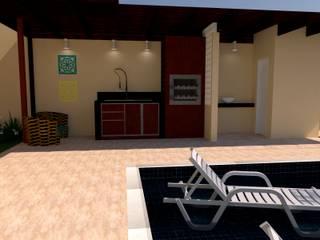 Ambiente Gourmet Corredores, halls e escadas modernos por Mariana Bittencourt Arquitetura Moderno