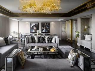 现代客厅設計點子、靈感 & 圖片 根據 Ferreira de Sá 現代風