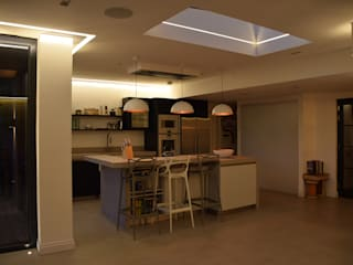 Surrey: modern Kitchen by MS Lighting Design