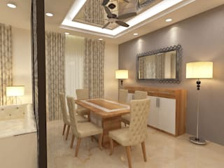 ATS hamlet One, NOIDA Modern dining room by Form & Function Modern