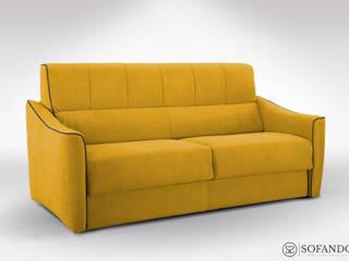 Sofando WohnzimmerSofas und Sessel Textil Gelb