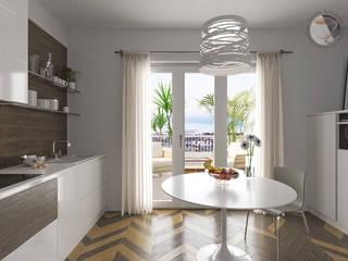 Progetto Appartamento Int15 Cucina moderna di Gentile Architetto Moderno