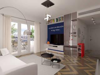 Progetto Appartamento Int15 Soggiorno moderno di Gentile Architetto Moderno