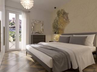 Progetto Appartamento Int15 Camera da letto moderna di Gentile Architetto Moderno