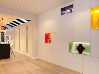 Weybridge House Refurbishment Timothy James Interiors Ruang Keluarga Minimalis Multicolored
