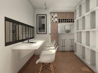 Corredores, halls e escadas minimalistas por Fabio Mimaki Arquitetura Minimalista
