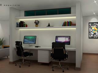 Oficinas de estilo minimalista de Fabio Mimaki Arquitetura Minimalista