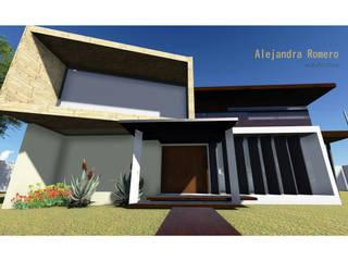 Casa Habitación: Casas de estilo  por  Alejandra Romero Arquitectura