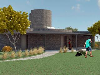 Fachada Variante 01: Casas unifamiliares de estilo  por Arq. Melisa Cavallo