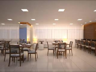 Salão de festas/Espaço Gourmet: Salas de jantar  por Milena Baptista Arquitetura e Interiores,Moderno