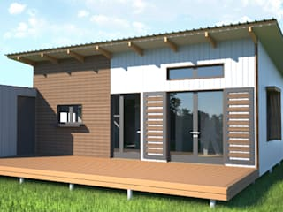 R660 015 (2 bedroom & 1 bathroom) Modular modern house - available to the local and export market.:   by Greenpods