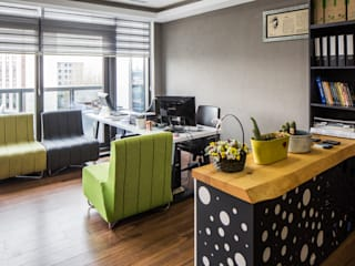 IKLIMA SENOL ARCHITECTURAL- INTERIOR DESIGN & CONSTRUCTION – TASARIM OFİSİ:  tarz Çalışma Odası