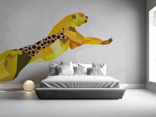 Naklejka Myloview Geometric Animals: GEPARD: styl , w kategorii  zaprojektowany przez MYLOVIEW