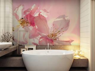 Fototapeta z różowymi kwiatami - REDRO: styl , w kategorii  zaprojektowany przez REDRO