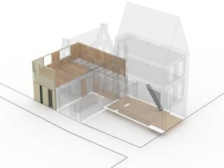 Woonhuis Prinsengracht: modern  door Bas Vogelpoel Architecten, Modern
