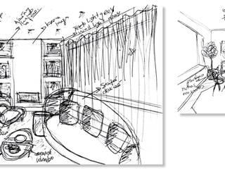 Sala de Estar Renovação Apartamento - Lisboa:   por Tendenza -  Interiors & Architecture Studio