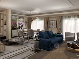 Living room interior design projects Modern Living Room by Spazio Interior Decoration LLC Modern