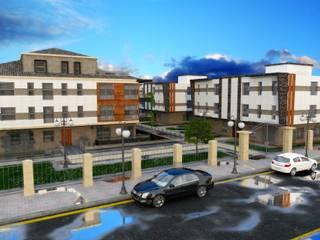 IKLIMA SENOL ARCHITECTURAL- INTERIOR DESIGN & CONSTRUCTION – SUADİYE SİTESİ:  tarz Apartman
