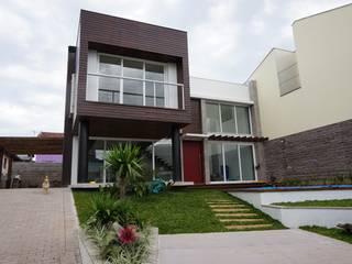 Residência: Casas familiares  por Andrezza Garcia | Arquitetura