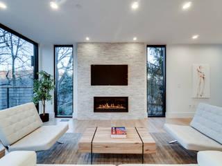 Chesapeake: modern Media room by KUBE Architecture