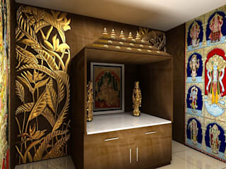 Pooja room Cocepts :   by Mantragoldcoatings