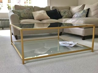 Metal and Glass Coffee Table by Andrew McQueen Сучасний