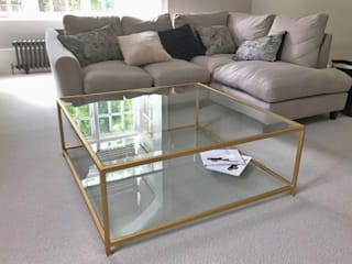 Metal and Glass Coffee Table bởi Andrew McQueen Hiện đại