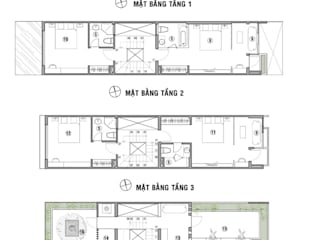 Modern houses by Công ty TNHH Xây Dựng TM – DV Song Phát Modern