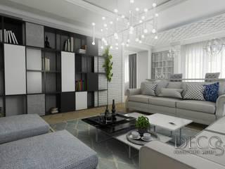 Elegancki i klimatyczny salon: styl , w kategorii Salon zaprojektowany przez Decostory
