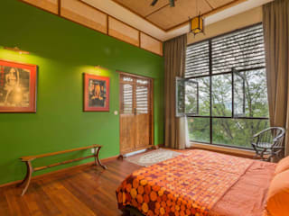 Bedroom with a view Tropical style bedroom by MJ Kanny Architect Tropical