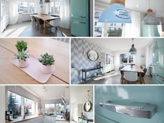 Uroczy dom w Łodzi: styl , w kategorii Kuchnia zaprojektowany przez Pasja Do Wnętrz